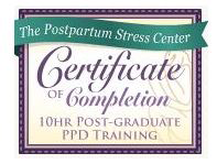 Postpartum Stress Center Certificate